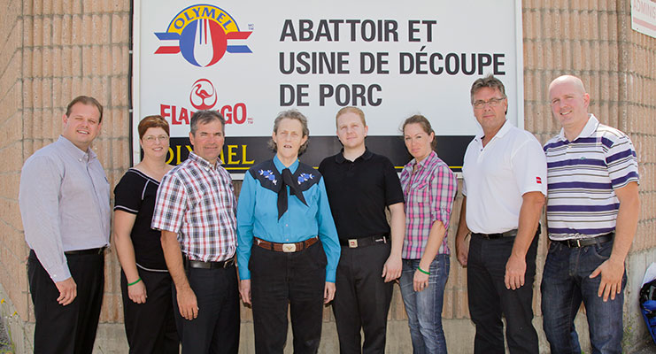Dr. Temple Grandin and the team