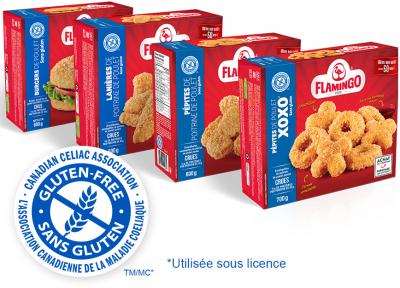 La gamme de produits panés sans gluten et super croustillants
