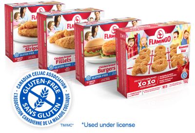 Line of Gluten-Free breaded products and super crunchy